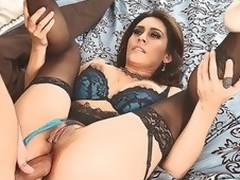 MILF Raylene in lingerie offers her juicy fuckable ass to hot thick dicked neighbour that satisfies her anal needs and desires in this video. This babe feels happy getting butt fucked.