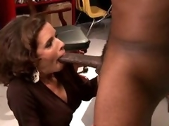 Busty Brunette MILF Veronica Avluv Goes Interracial Until Squirting