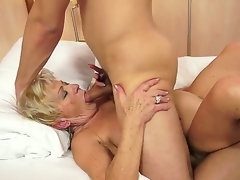 Horny granny Malya can't live without the sweet intense pleasure of a big rod ramming her hard
