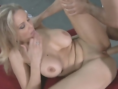 James Deen came to his allies mom - flamboyant blonde MILF Julia Ann to fuck her
