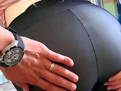 The MILF hunter pounded her sweet pussy as her giant tits and soaked ass bounced around.  That babe got man milk all over her charming face. Enjoy the video!