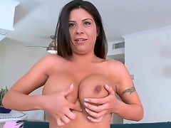 Candi Coxx boobs are fucking amazing. This is her 1st time in front of the camera but you wouldnt make no doubt of it. Just watch this MILF babe go. she oils up her big fat boobs and then goes str8 for some hardcore cock action.