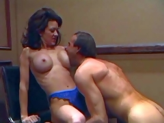 Slim smoking hawt brunette milf Raquel Divine with round fake balloons and tight firm ass in blue lace undies acquires licked wonderful by her turned on spouse with hawt body
