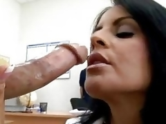 Hawt momma Mikayla feeds her hungry mouth with her amazing man's sausage