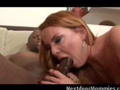 Blonde MILF acquires fucked at the next door