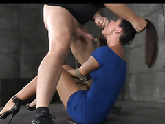Superb Hot Brunette Milf Rough Treatment 7