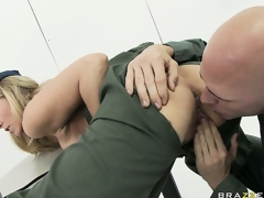 MILF babe Julia Ann rammed hard in the army by a horny soldier