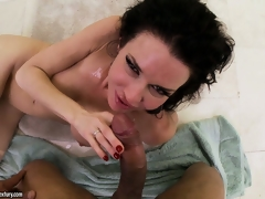 Compilation of women getting blasted with massive POV cumshots