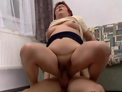 Nasty mature floozy gets fucked real hard