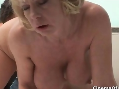 Dirty blonde slut goes crazy sucking clip 5