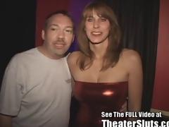 Slutty MILF Karen Sucks and Fucks Porn Theater Strangers nearly Tampa