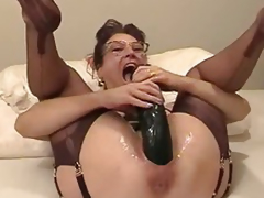 Amateur wife fisted increased by fucked close by a biggest dildo