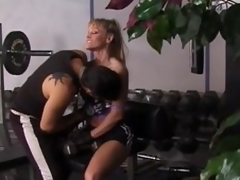 Fit blonde milf acquires unforgettably drilled in a gym