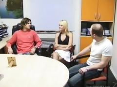 Daniela Pulman and Marti Zina Go Lesbian In a Bonerific Trio