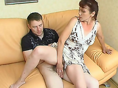 Sultry aged hotty is very good in luring younger guy into steamy fucking